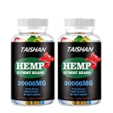 Hemp Gummies 2 Pack 30,000mg 60Count - Stress, Insomnia & Anxiety Relief - Tasty & Relaxing Herbal Gummies - Premium Extract - Mood & Immune Support - Rich in Omega 3-6-9 (#2)