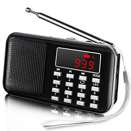 Radio Portátil Pequeña Am FM Radio Bolsillo Estéreo