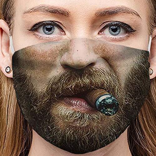 PRETTYEST Lustig Mundschutz Bandanas Waschbar 3D Motiv Staubdicht Mund und Nasenschutz Gesichtsabdeckung Wiederverwendbare Atmungsaktiv Face Cover