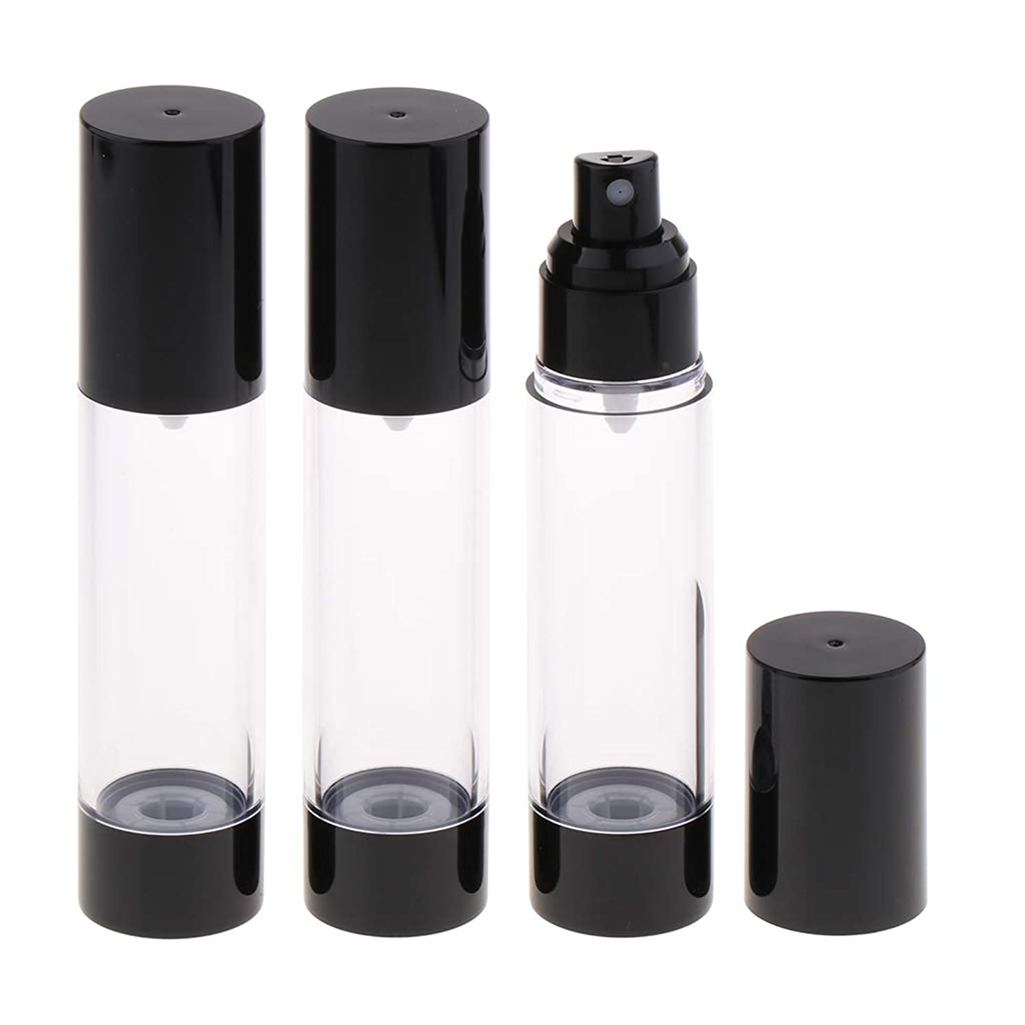 改革反論者リサイクルするHellery 香水アトマイザー スプレーボトル 真空ボトル 霧吹き 詰め替え 再利用可能 漏れ防止 携帯用 3個 - 50mlミスト