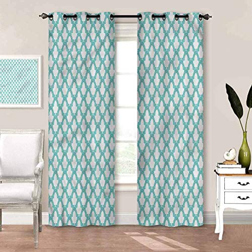 Draperies & Curtains, Morroccan Tiles Room Darkening Drape Keeping Your Room Cool in The Summer W63 x L45 Inch