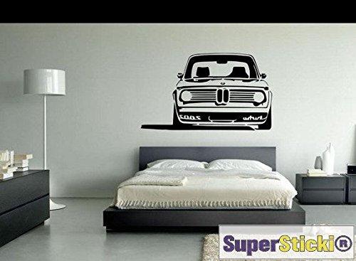 SUPERSTICKI BMW Auto Front Rennwagen ca 60x60cm Wandtattoo Hobby Deko Dekoration Home Basteln aus Hochleistungsfolie Aufkleber Autoaufkleber Tuningaufkleber von aus Hochleistungsfolie für alle g