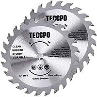 TECCPO 2 Piezas TCT Hoja de Sierra Circular, 115mmx10mm, 24 Dientes, para Cortar Madera - TACB28A