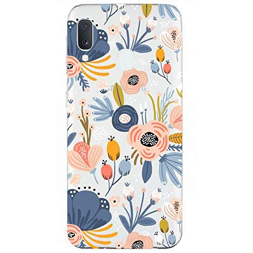 SGKITM Coque Samsung Galaxy A20e Etui Silicone Gel TPU Transparent Doux A20e Housse Beaucoup Papillons Fleur Original Motif Ultra-Mince A20e Cas Téléphone pour Galaxy A20e 5.8 Pouces (3)