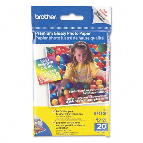 Brother Products - Brother - Innobella Premium Glossy Photo Paper, 51 lbs., 4 x 6, 20/Pack - Sold As - Convenient size. by Brother®