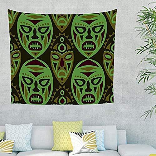 QIAO Wandteppich Wandbehang ?gypten Indien Maya Maske Wandbehang Wandteppich Wandteppich Picknick Strandtuch Meditation Yoga Matten Strandteppich Wohnzimmer Schlafzimmer Wohnkultur