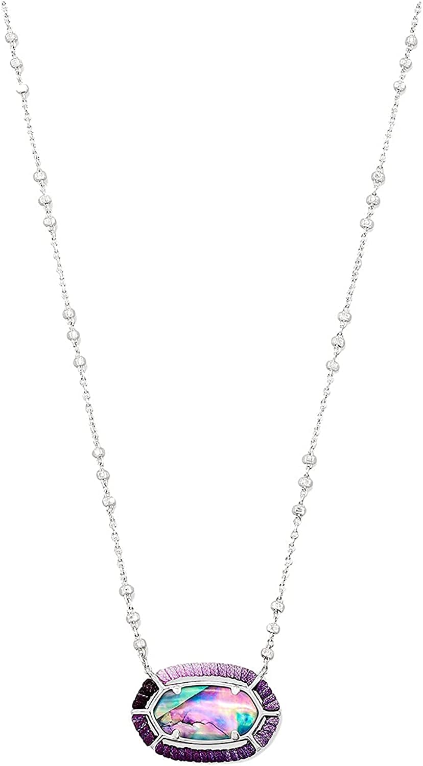 Kendra Scott Threaded Branded goods Elisa Pendant Necklace Credence Silver Bright Lilac