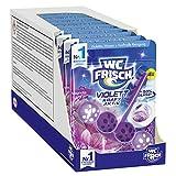 WC FRISCH Kraft Aktiv Violettspüler Magnolie, WC-Reiniger, 10 Stück, Farbspüler mit 50 Prozent mehr Glanz