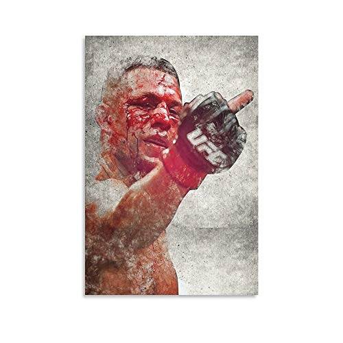 Nate Diaz Canvas Art Prints Poster Bedroom Wall Mural Modern Family Home Decor 16x24inch(40x60cm)
