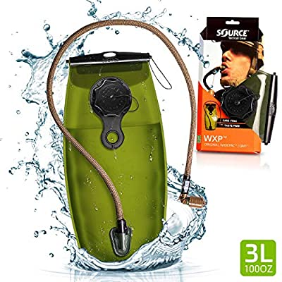 Source Tactical WXP 3-Liter Hydration Reservoir Leakproof Antimicrobial System with Storm Valve, Coyote
