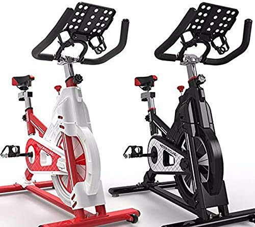 Indoor Cycling Heimtrainer, Cardio-Training, Verstellbarer Lenker und Sitz, Herzfrequenzsensoren und Bordcomputer lesen Geschwindigkeit, Entfernung, Zeit, Kalorien + Puls
