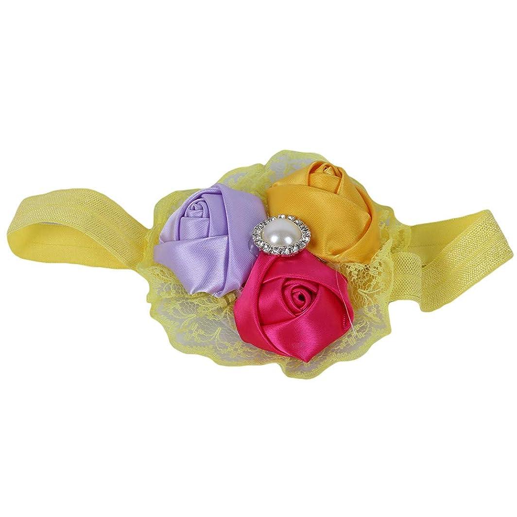 留め金フルーツ野菜疼痛ユンジーの子供かわいいバラの芽のヘアバンドヘアクローズのヘア装飾エレガントな女性のヘアリングのヘッドウェアの女の子のヘッドバンドバレッタヘアアクセサリー、黄色、布