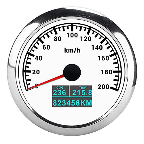 9‑32V DC GPS Velocímetro Puntero Tacómetro 3 en 1 IP67 Impermeable COG Viaje de un so-lo kilometraje para coche, camión, ba-rco