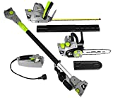 Earthwise CVP41810 7 10' Handheld Saw-4.5 Amp 17' Pole Hedge Trimmer 4-in-1...
