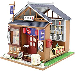 YLXT 3D Puzzles Miniature DIY Dollhouse Handmade Kit Holiday Times Series Accessories with Furniture LED, Best Birthday for Girls (1)