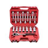 UTMALL 18PCS Steering Hub Suspension Shock Absorber Strut Nut Removal Tool Socket Kit