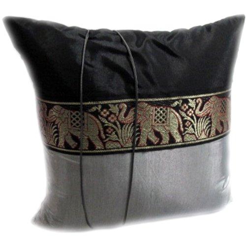 Amazing Deal ThaiRoyalElephant Best Seller (4 Pieces) Thai Big Elephant Decorative Handmade Silk Sat...