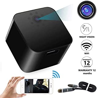 Full HD 1920 x 1080p USB Wall Charger Wifi Camera With Supper Night vision and Remote Control Motion Detection - C005P