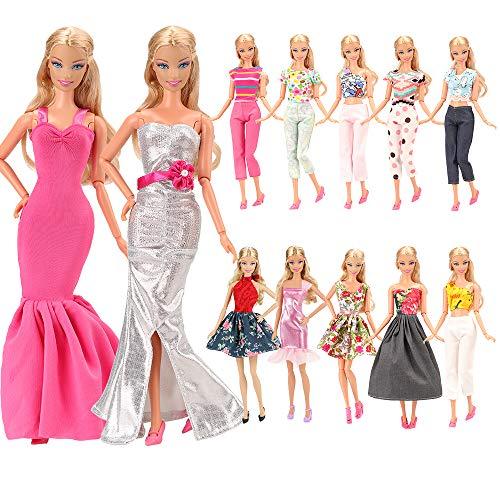 Miunana 5 Sets Fashionistas Mode Kleidung Kleid Party Fashion Ohne Doll für 11,5 Zoll Mädchen Puppen Geschenk