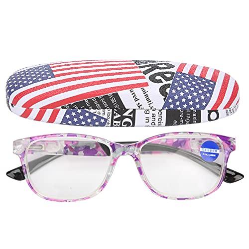 Gafas de luz azul, gafas de luz azul de nariz clara con patas curvadas antideslizantes para evitar la fatiga visual de las personas mayores(+400, 11#)