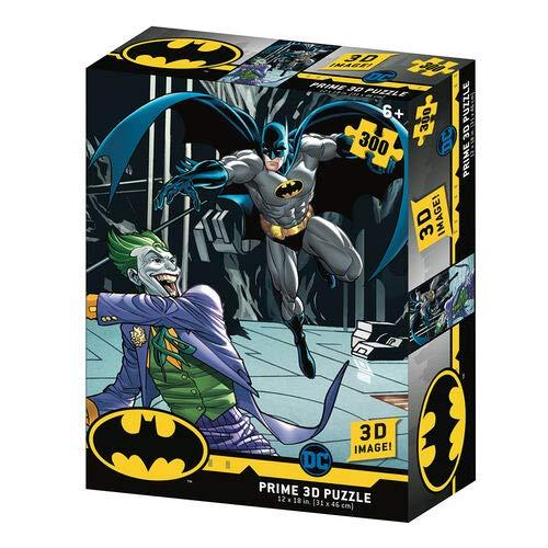 Prime 3D- Redstring-Puzzle lenticolare DC Comics Batman vs Joker 300 Pezzi (Efetto 3D), Multicolore