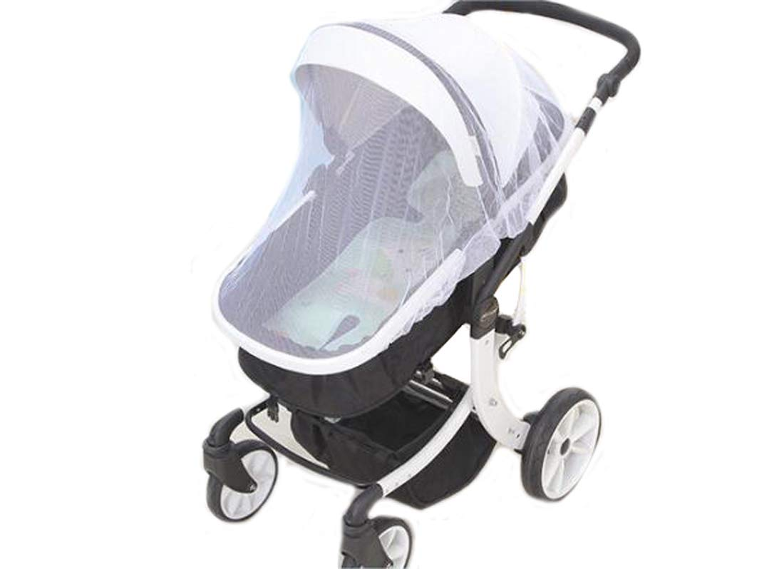 Ewanda store Baby Stroller Net,Baby Mosquito Net for Strollers,Infant Carriers,Car Seats,Cradles(White)