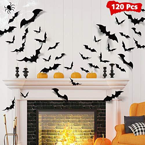 LUDILO 120pcs Halloween Bats Decora…