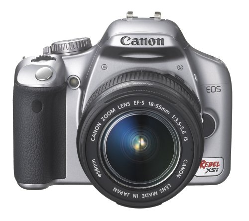 Canon Digital Rebel XSI 12.2 MP Digital SLR Camera with EF-S 18-55mm f/3.5-5.6 IS Lens (Silver)