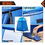 KingCamp Unisex's Portable Pop Up Privacy Shelter Dressing Changing Privy Tent Cabana Screen Room w Weight Camping… 7