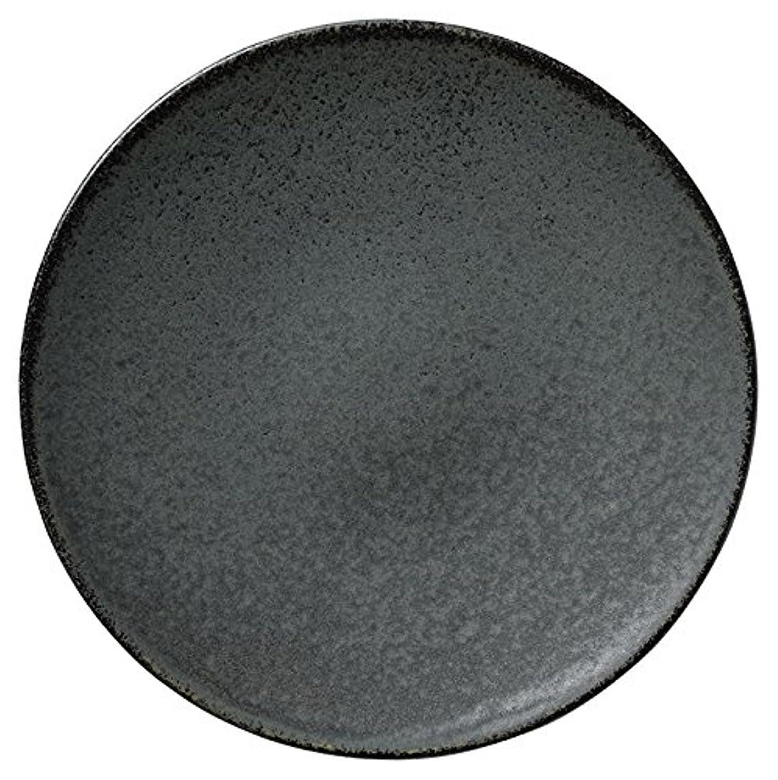 オン終了しました役に立つ業務用食器 黒滴 皿 6.0 18600006