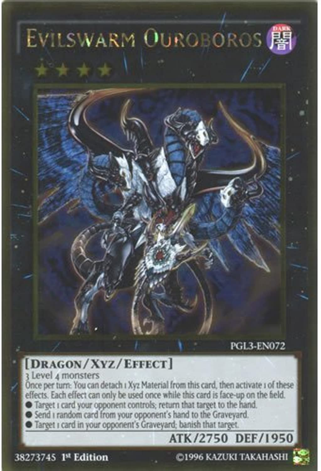YuGiOh   PGL3-EN072 1st Ed Evilswarm OurobGolds Gold Rare Card - ( Premium Gold 3 ) by Deckboosters