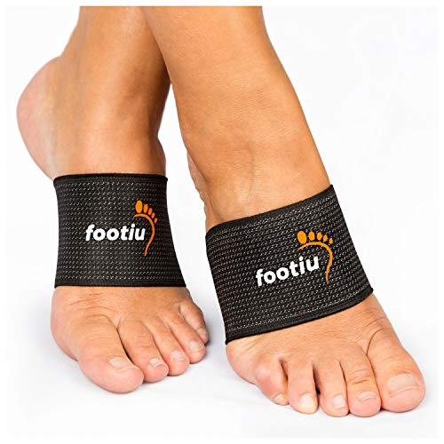 Breathable elastic athletic arch support sleeve cushions and relieves plantar fasciitis pain. 30% copper content helps improve blood circulation, reduce inflammation, and increase energy Snug, comfort fit band provides gentle compression & relief for...