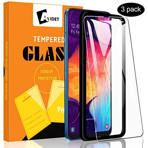 A-VIDET 3 Stück Panzerglas Schutzfolie für Samsung Galaxy A50/M21/M31/M30s,9H Festigkeit Super Langlebig, Anti-Öl,Schutzfoliefolie Bildschirmschutz Bildschirmschutzfolie für Samsung Galaxy A50/M21/M31/M30s