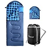 Cotton Flannel Sleeping Bag for Adults Boys and Girls, Zip 2 Bags Together for 2 Person Use, 2/3/4lbs Filler Can Be Choose, Warm and Comfortable Sleep