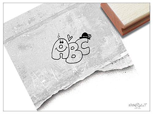Stempel - K 69 - Kinderstempel Motivstempel - Süße ABC Buchstaben für Schulanfänger - Bilderstempel zum Ausmalen für Kita - Kinderzimmer - Schule und Beruf