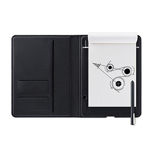 Wacom Bamboo Folio Smartpad A4 – Großes Portfolio Notepad mit Digitalisierungs-Funktion inkl. Eingabestift mit Kugelschreibermine – Kompatibel mit Android und Apple