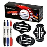 SAPLIZE Golf Ball Marker Alignment Kit(3 Pack), Triple Golf Ball Marker Line Drawing Alignment Putting Tools with 3 Sharpie Marker Pens, Golf Accessories