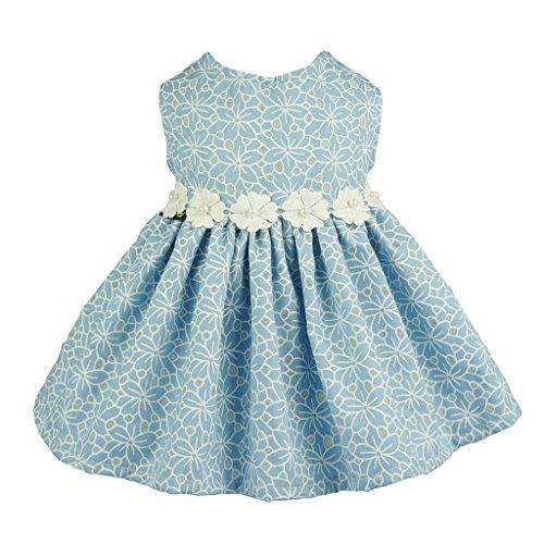 Fitwarm Blue Floral Dog Dress