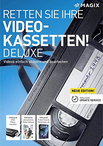 Magix Retten Sie Ihre Videokassetten Deluxe Vollversion, 1 Lizenz Windows Digitalisierungs-Software