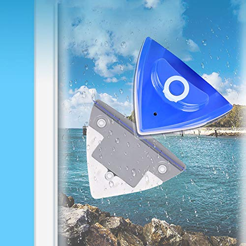LZH FILTER Nettoyeur de vitres magnétique,Nettoyeur de Vitres Double Face Outil Nettoyage Brosse, Outils de Nettoyage magnétiques pour racleur de vitres Double Face à la Maison