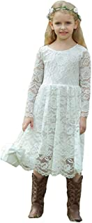 Flower Girl Lace Dress Country Dresses Junior Bridesmaid