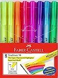 Faber-Castell 158131 - Blíster con 8 marcadores fluorescentes Textliner 38, varios colores