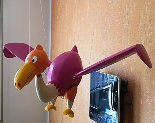 Schwingtier komischer Vogel, Handarbeit