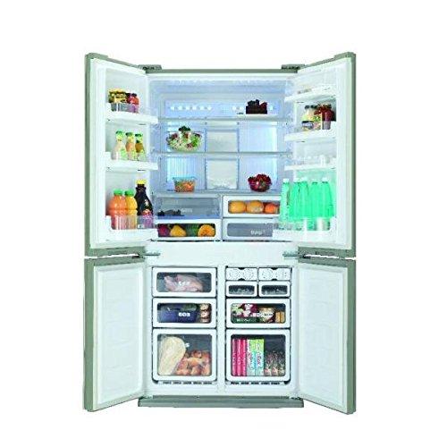 Sharp SJ-FP810VBE freestanding 605L A+ Beige side-by-side refrigerator - Side-By-Side Fridge-Freezers (Freestanding, Beige, French door, 605 L, SN-T, 37 dB)