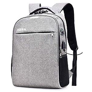 AISFA リュック PC ビジネスバックパック 防水加工 リュックサック大容量 ラップトップバック USB充電ポート付き