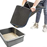 WePet Cat Litter Mat, Kitty Litter Trapping Mat, Small Size, Honeycomb Double Layer, No Phthalate, Urine Waterproof, Easy Clean, Scratch Scatter Control, Catcher Box Pads Rug Carpet 20x16 Inch Grey
