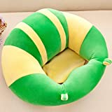 Baby Support Seat Sofa Plush Soft Animal Shaped Baby Learning to Sit Chair Keep Sitting Posture Comfortable Infant Sitting Chair for 3-16 Months Baby (Green)
