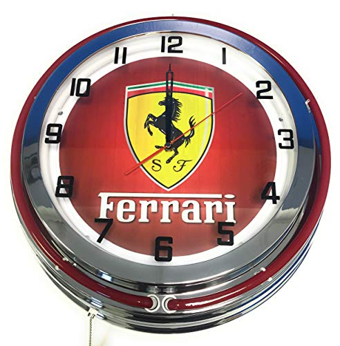 Ferrari 19 Double Neon Clock