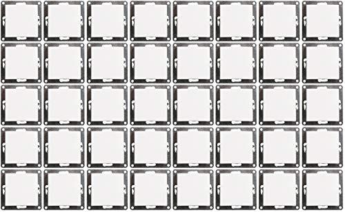 MC POWER - 40er Pack Wechselschalter | FLAIR | Klemmanschluss, weiß, matt
