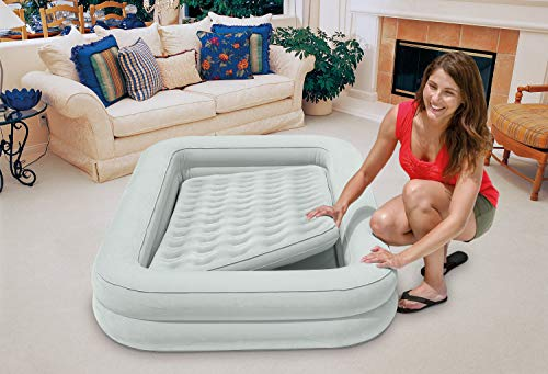 Intex 66810NP Floque + Airbed Air Bed Inflator Travel 4